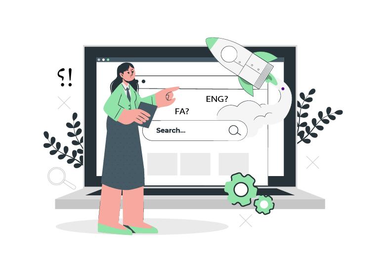 پیشنهاد کلیک اول انتخاب زبان آدرس سایت