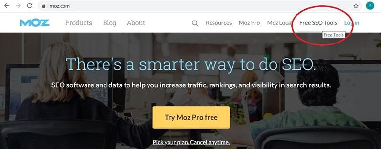 آموزش سایت MOZ بخش Free SEO tools